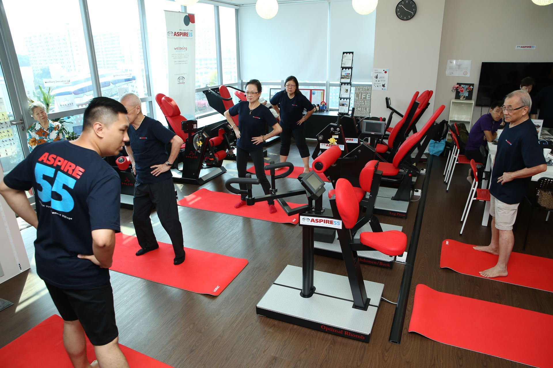 Aspire asia s first virtual retirement village strength gym